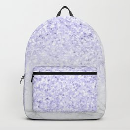 Violet Glitter and Marble Backpack