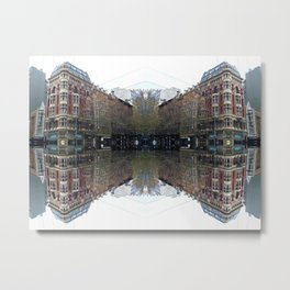 Melbourne in the Wet Metal Print