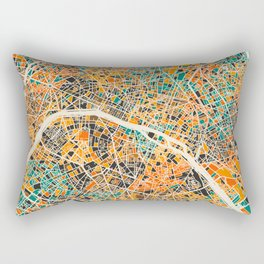 Paris mosaic map #2 Rectangular Pillow