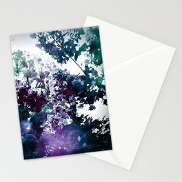 Watercolor Floral Eggplant PUrple TEal Stationery Cards