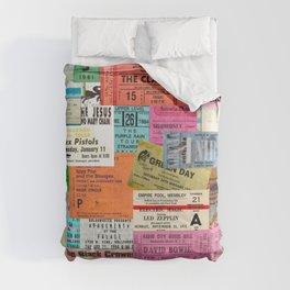I miss concerts - ticket stubs Comforters