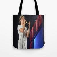 niall horan Tote Bags featuring Niall Horan by Halle