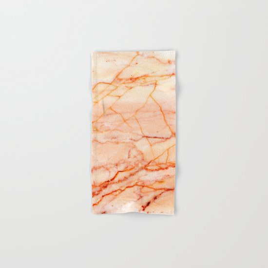 Peach Marble Hand & Bath Towel