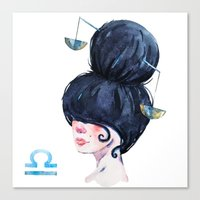 libra Canvas Prints featuring Libra by Aloke Design