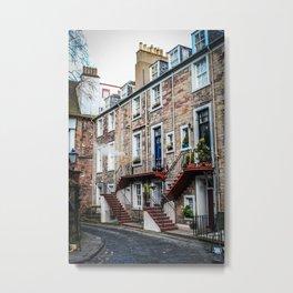 Edinburgh Façade Metal Print