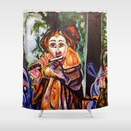 Just Whistle Shower Curtain