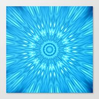 turquoise Canvas Prints featuring turquoisE Mandala Expolosion by 2sweet4words Designs