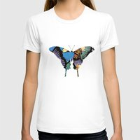 butterflies T-shirts featuring Butterflies by brushnpaper
