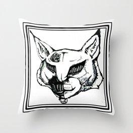 Vintage TechnoLynx. Throw Pillow