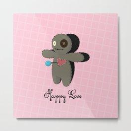 Voodoo doll. Happy love Metal Print