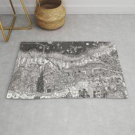 Imaginary Cityscape Rug