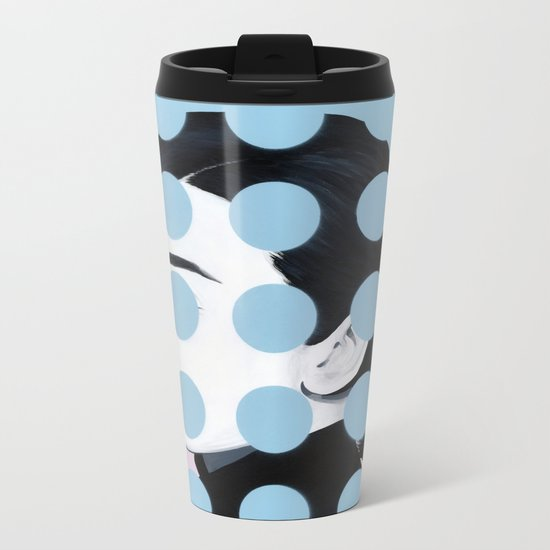 Audrey (Dots) by Famous When Dead Metal Travel Mug