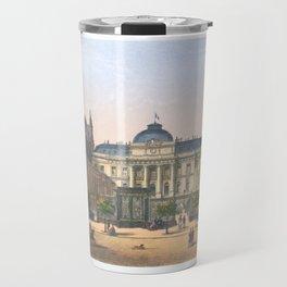 Paris art print Paris Decor office decoration vintage decor PALAIS DE JUSTICE of Paris Travel Mug