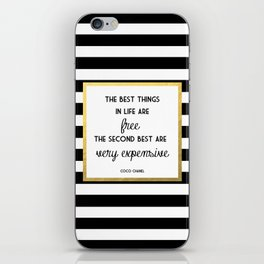 Coco Gold Very Expensive quote iPhone Skin