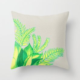 Greens and Yellows ! Throw Pillow