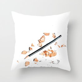 Pencil Shavings (Color) Throw Pillow