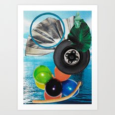 Wheel of Fortune Spinning Silly Fun  Art Print