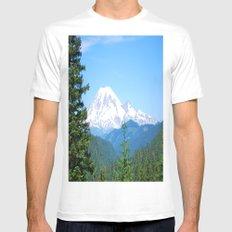 Mount Rainier MEDIUM White Mens Fitted Tee