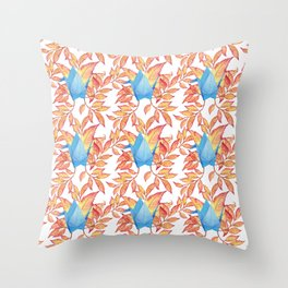 Autumn Origami Paper Crane Throw Pillow