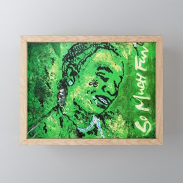 thug,so much fun,album art,cover,green,music,hiphop,rap,decor,wall art,gangsta,cool,dope,poster Framed Mini Art Print