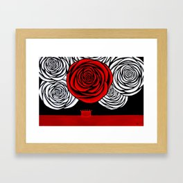 Heather's Rose Framed Art Print