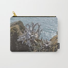 DRIFTWOOD ROOTS ON SEASIDE ROCKS Carry-All Pouch