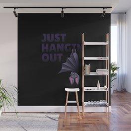 Hangin out bat! Funny T-shirt! Wall Mural