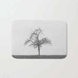 tree black & white Bath Mat
