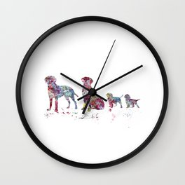 Labrador family Wall Clock