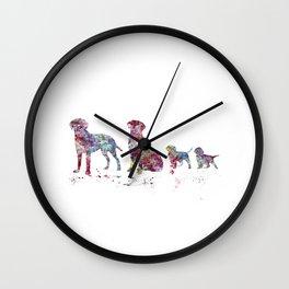 Labrador family Wall Clock