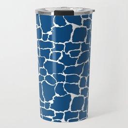 Classic Blue Giraffe Travel Mug