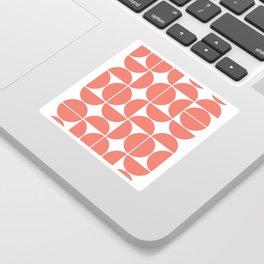 Mid Century Modern Geometric 04 Living Coral Sticker
