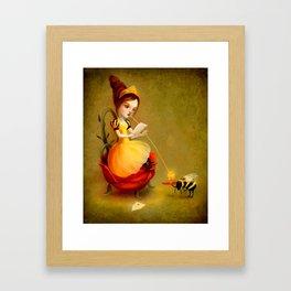 Queen Bee Reads a Love Letter Framed Art Print