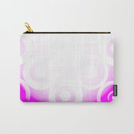 Circle Through White To Pink Carry-All Pouch