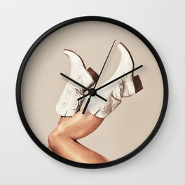 These Boots - Neutral Wall Clock
