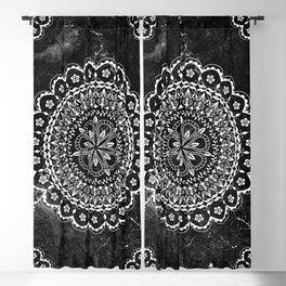 Black and white Mandala Blackout Curtain