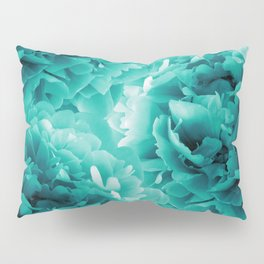 Turquoise Peonies Dream #1 #floral #decor #art #society6 Pillow Sham