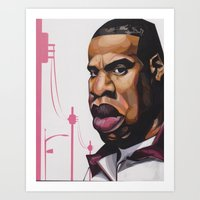 jay z Art Prints featuring Jay Z by Smiling Warrior