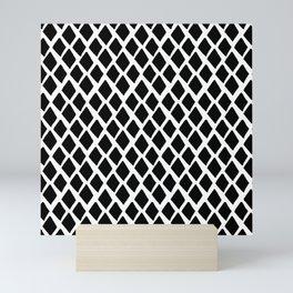 Rhombus Black And White Mini Art Print