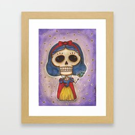 Blanca Nieves Day of the Dead Framed Art Print