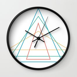 4 triangles Wall Clock