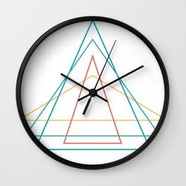 4 triangles Wall Clock