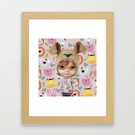 ERREGIRO BLYTHE DOLL CHIO ANIMALS  Framed Art Print