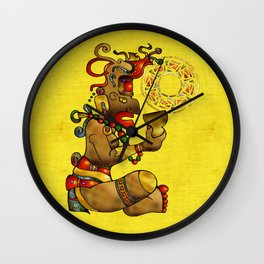Tribal Fertility God Folk Art Wall Clock