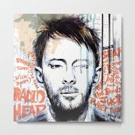 Portrait of Thom Yorke Metal Print