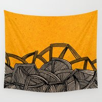 ursula Wall Tapestries featuring - barricades - by Magdalla Del Fresto