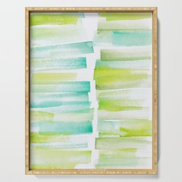 6 | 181101 Watercolour Palette Abstract Art | Lines | Stripes | Serving Tray