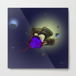 Bioluminescence Metal Print