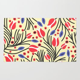 Waves of Flower (Bright Color Floral) Rug