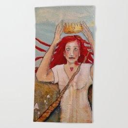 Crowning Herself Beach Towel